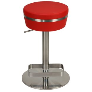Upshaw Adjustable Height Swivel Bar Stool Orren Ellis