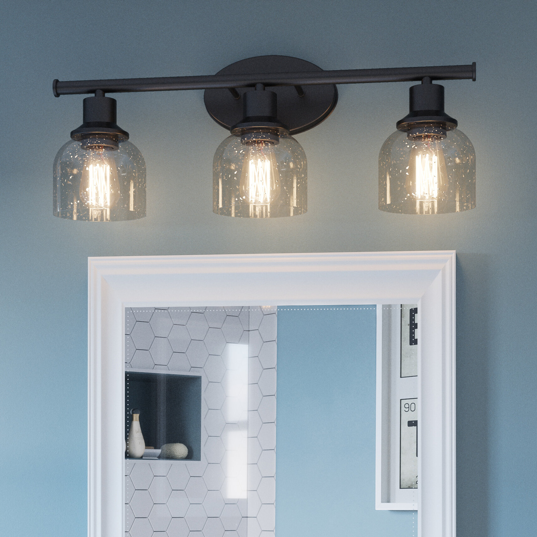 Higgston 3 Light Dimmable Bronze Vanity Light Reviews Birch Lane