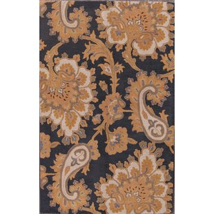 Budget Ciara Oushak Agra Traditional Oriental Hand-Tufted Wool Brown/Black Area Rug By Darby Home Co