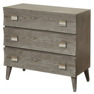 Wrought Studio Ensley Curved 3 Drawer Chest
