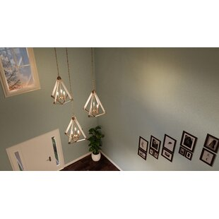 Loper 3-Light Geometric Chandelier