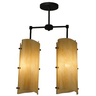 Meyda Tiffany Greenbriar Oak 2-Light Pendant