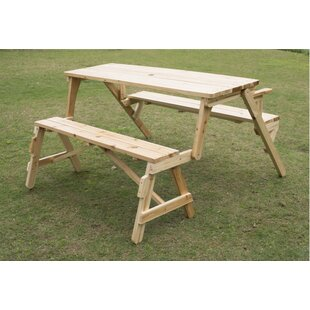 Wood Picnic Tables Youll Love Wayfair - Treated lumber picnic table