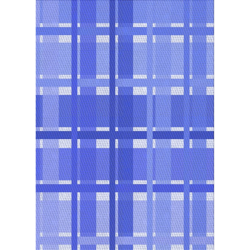 East Urban Home Plaid Wool Blue Area Rug Wayfair