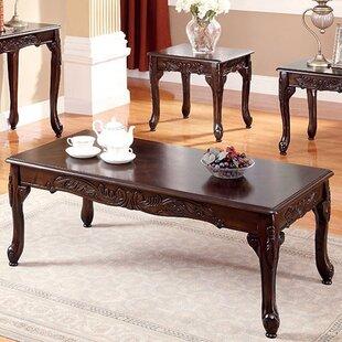 Astoria Grand Sherika 3 Piece Coffee Table Set