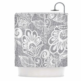 'Lace Flower' Single Shower Curtain