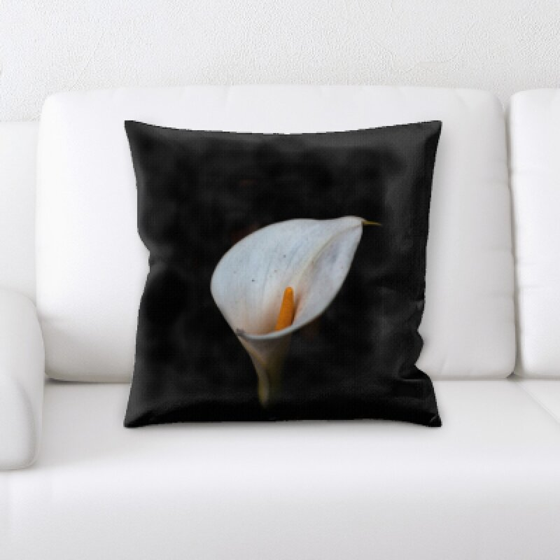 East Urban Home Flowers With Background Throw Pillow Wayfair