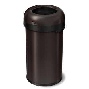 simplehuman Bullet Stainless Steel 16 Gallon Trash Can