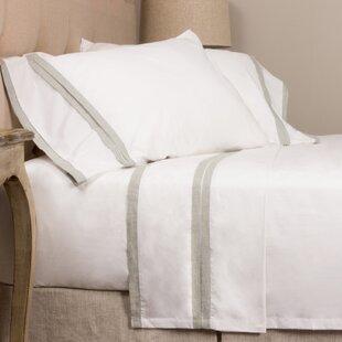 Amity Home Banded 280 100% Cotton Sheet Set