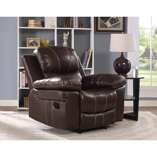 Bibbs Leather Power Recliner by Red Barrel Studio