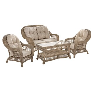 Royals Garden Patio 4 Piece Sofa Seating Group with Cushions