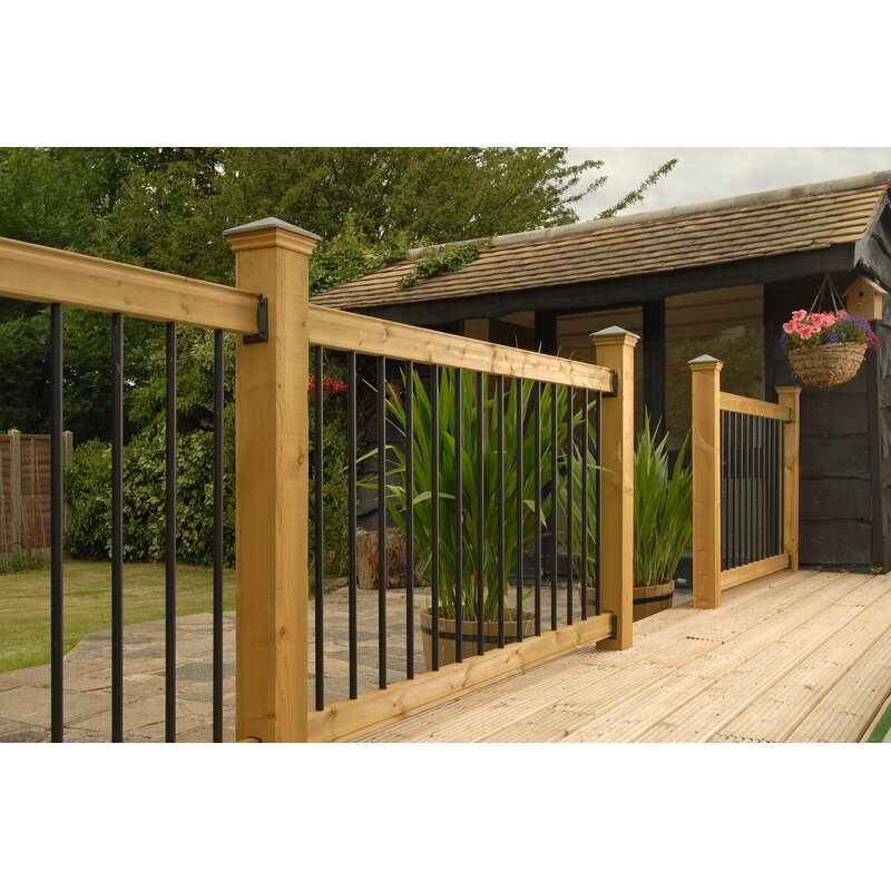 Straight Metal Decking Panel Rail Infill Bars Spindles Steel Decking Fence Dichvukhachhanghitachi Com