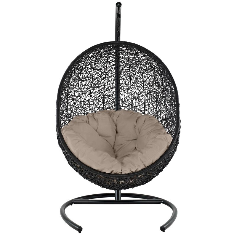 Bungalow Rose  Herculaneum Encase Swing Chair with Stand