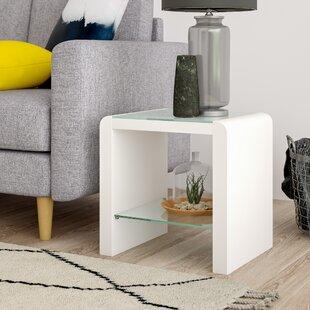 High White Gloss Side Table | Wayfair.co.uk