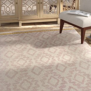 Reviews Kopstal Hand Woven Blush/Yellow Area Rug ByBungalow Rose