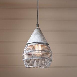 Gracie Oaks Lowe 1-Light Lantern Pendant