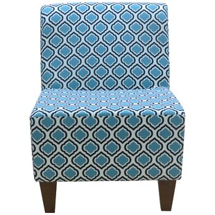 Fox Hill Trading Penelope Armless Curt Medallion Slipper Chair