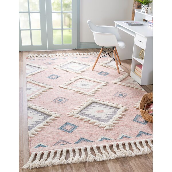 Union Rustic Shriver Southwestern Hand Woven Flatweave Wool Pink Area Rug Reviews Wayfair