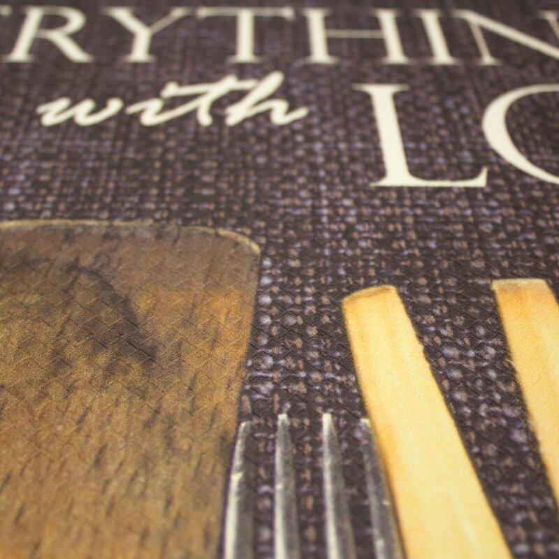 Winston Porter Rivard Utensils Season With Love Kitchen Mat Reviews Wayfair
