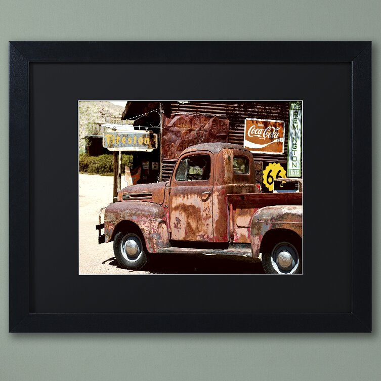 Trademark Art Us Truck Framed Photographic Print Wayfair Ca