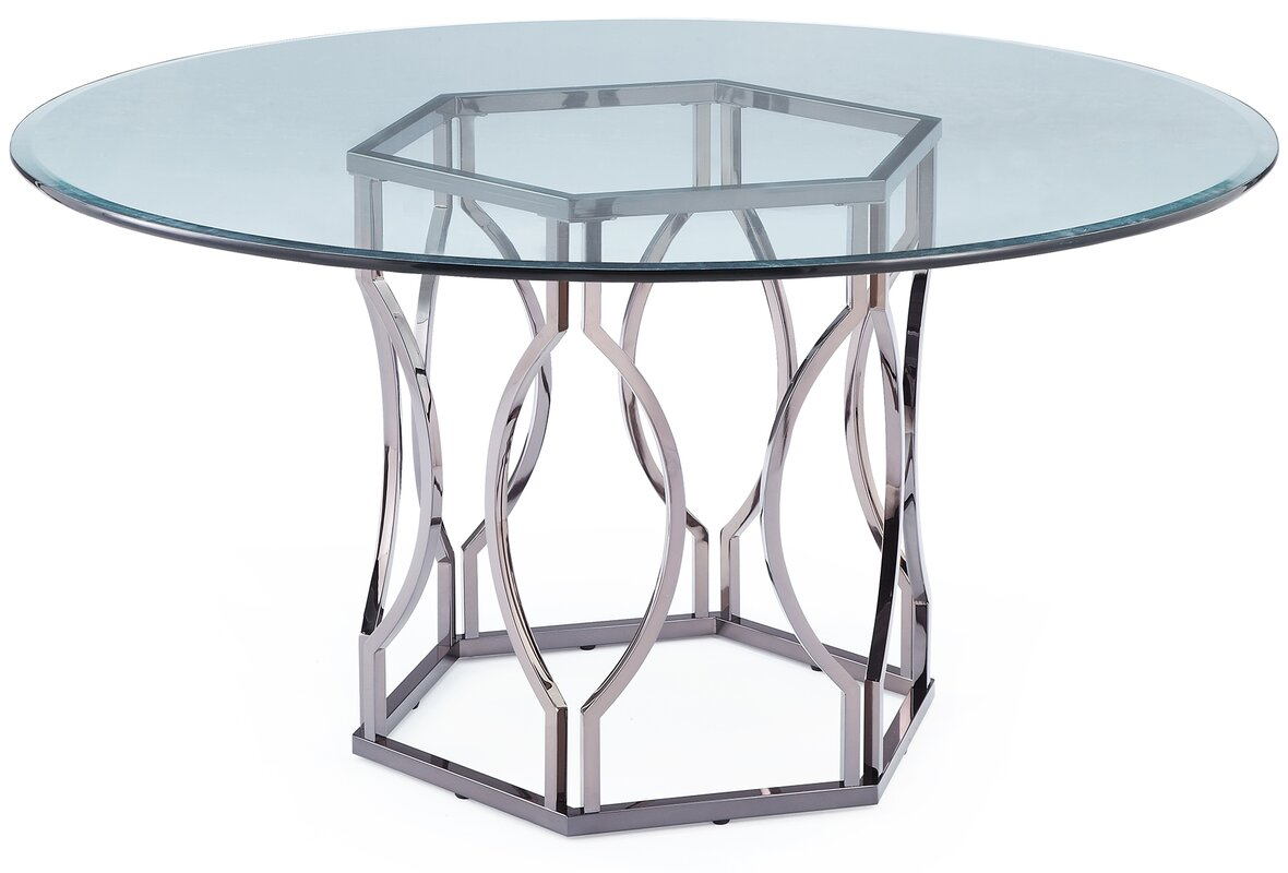 Design Glass Dining Table willa arlo interiors affric glass dining table reviews wayfair table