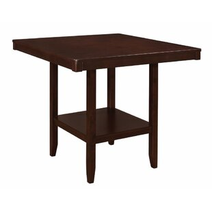 Pyron Wooden Square Counter Height Dining Table by Charlton Home Savings