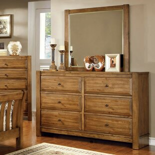 Check Prices Beavers 6 Double Dresser with Mirror by Millwood Pines