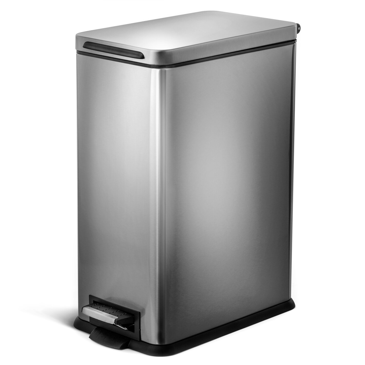 Kitchen Stainless Steel 8 Gallon Step On Trash Can