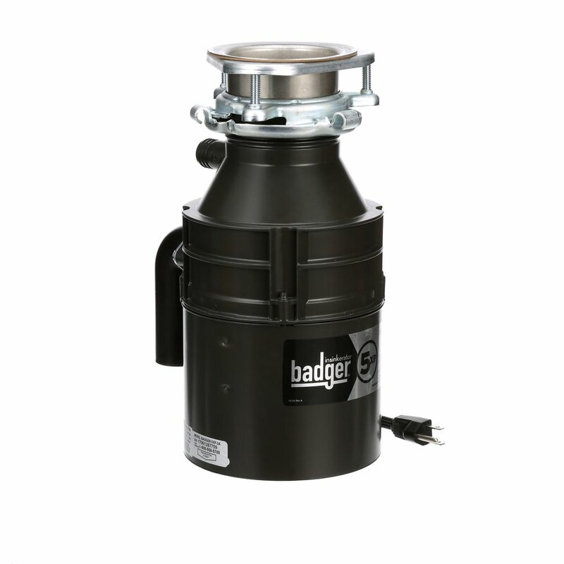 Insinkerator Badger 5xp 3 4 Hp Continuous Feed Garbage Disposal