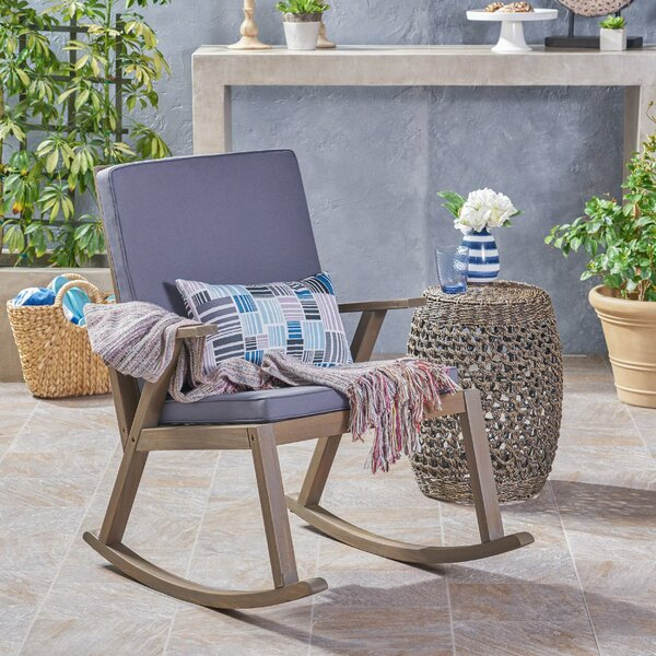 Wondrous Spencer Outdoor Rocking Chair With Cushion Pdpeps Interior Chair Design Pdpepsorg