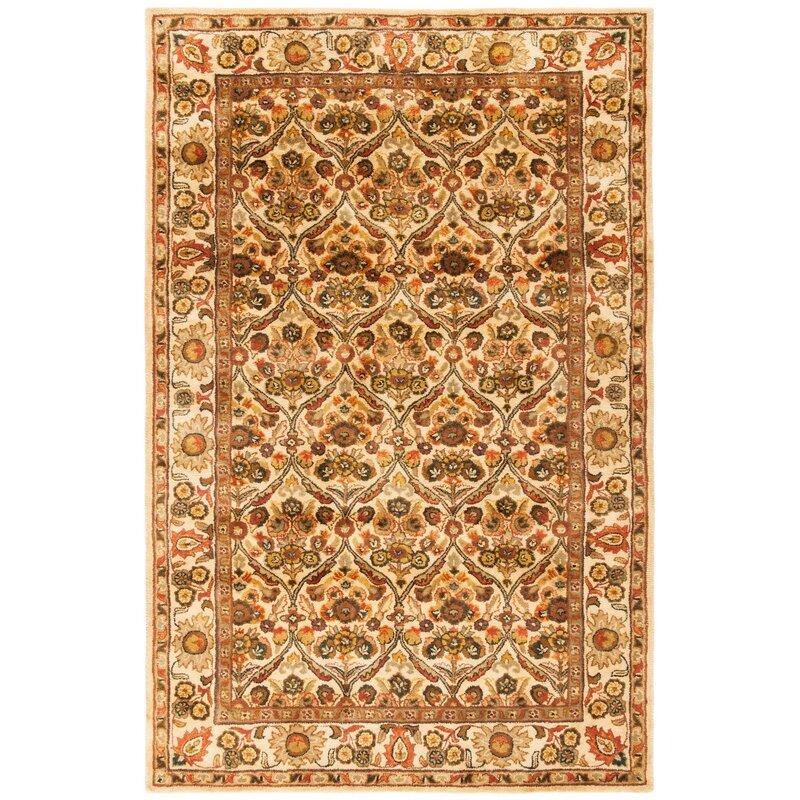 Charlton Home Dunbar Handmade Tufted Wool Gold Rug Reviews Wayfair
