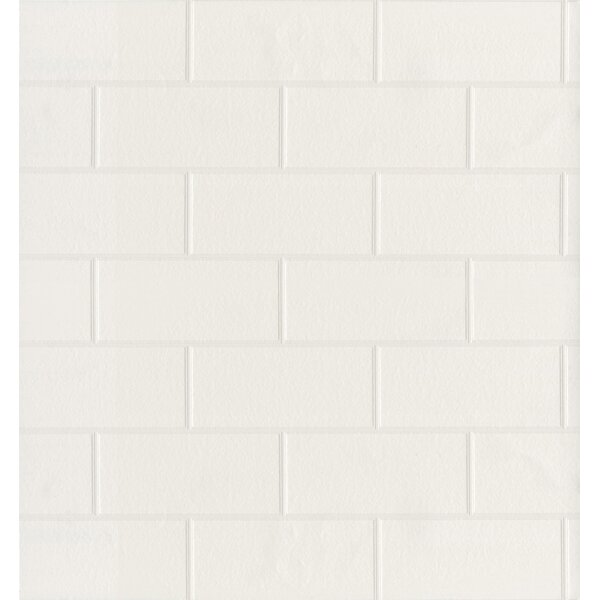 White Subway Tile Wallpaper Wayfair