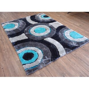 Online Reviews Hand-Tufted Gray/Blue Area Rug By Rug Factory Plus