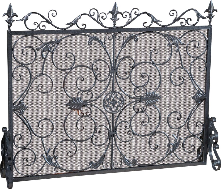 Black Iron Fireplace Screen. Laurentia Panel Iron Fireplace Screen Home Loft Concepts  Reviews