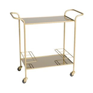 Lacy Retro Trolley Bar Cart by Everly Quinn