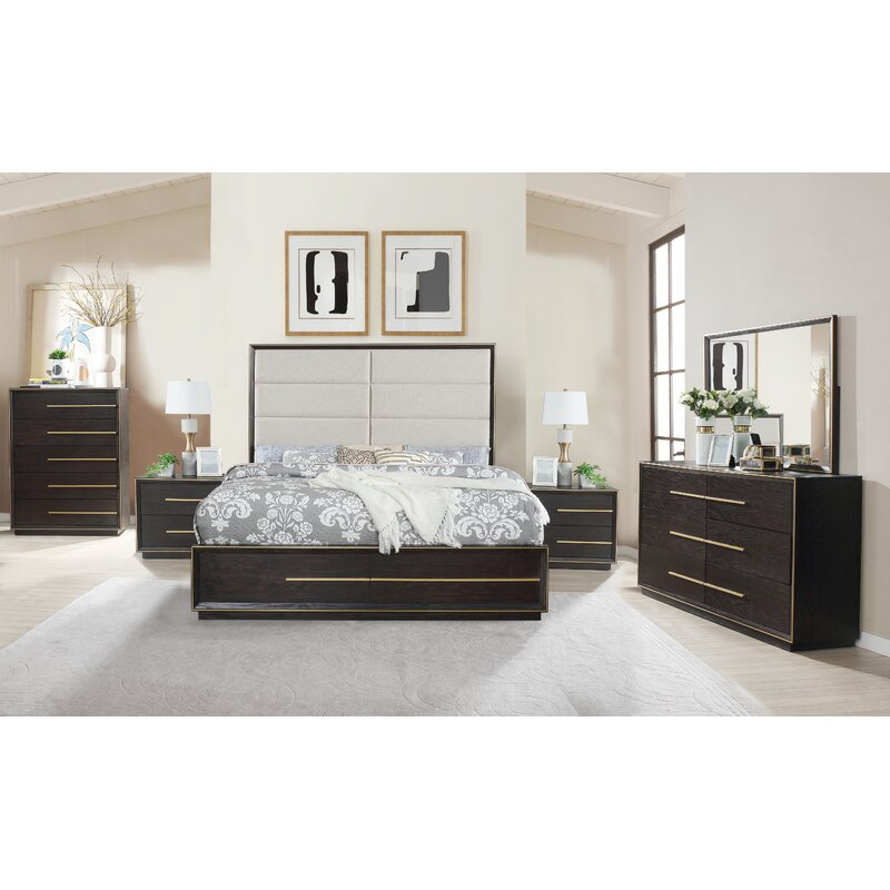 everly quinn blairstown solid wood 5 piece bedroom set