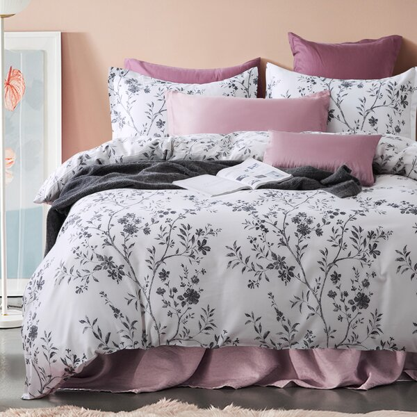 Gracie Oaks Arbolente Asian Toile Chinoiserie Branches Duvet Cover Set Reviews Wayfair Ca