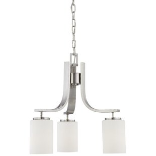 Warne 3-Light Shaded Chandelier by Winston Porter