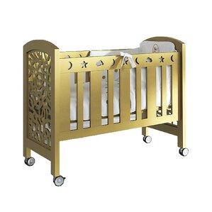 Leo Wooden Portable Crib With Mattress