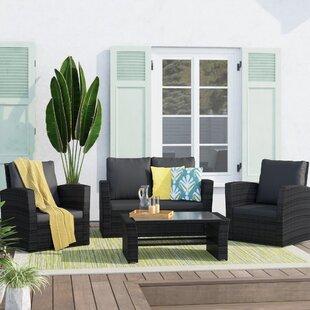 4 Seater Rattan Sofa Set Image