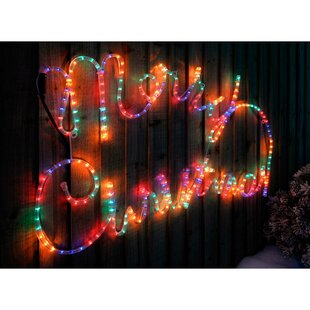 100cm Large Merry Christmas Lighted Display By The Seasonal Aisle