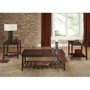 Charlton Home Manufahi 3 Piece Coffee Table Set
