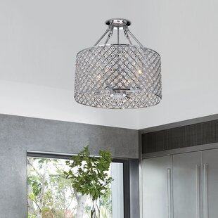 Clemence 4-Light Semi-Flush Mount by House of Hampton