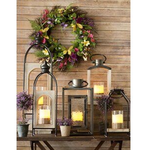 Large Metal/Wood Lantern