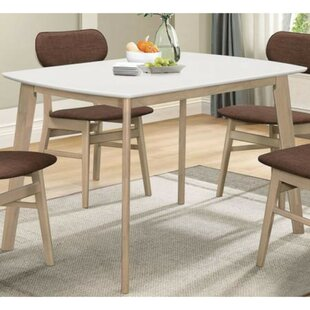 Wrought Studio Macedonia Rectangular 5 Piece Solid Wood Dining Set
