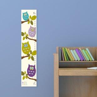 Kleckner Cute Owls Whimsical Growth Chart