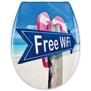 Harter WC-Sitz Free Wifi Länglich von Sanwood