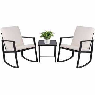 Beauman 3 Piece Rattan with Cushions by Wrought Studio