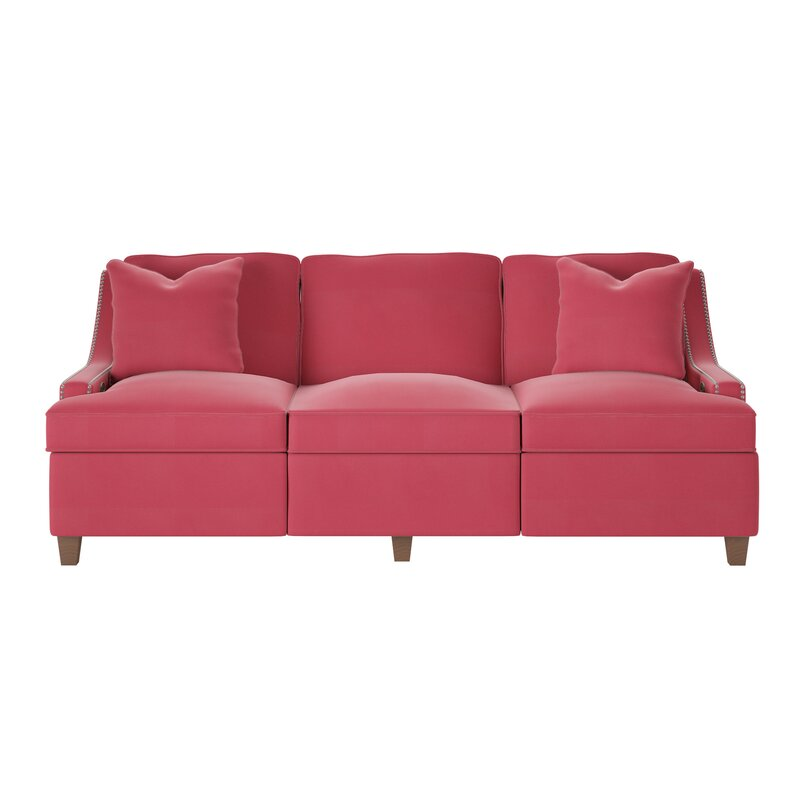 Wayfair Custom Upholstery™ Tricia Power Hybrid Reclining Sofa ...