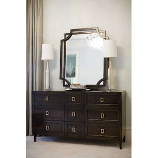 Jet Set 9 Drawer Dresser with Mirror by Bernhardt